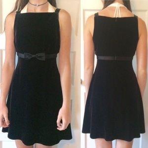 Laundry by Shellie Segal   Black Velvet Bow Dress